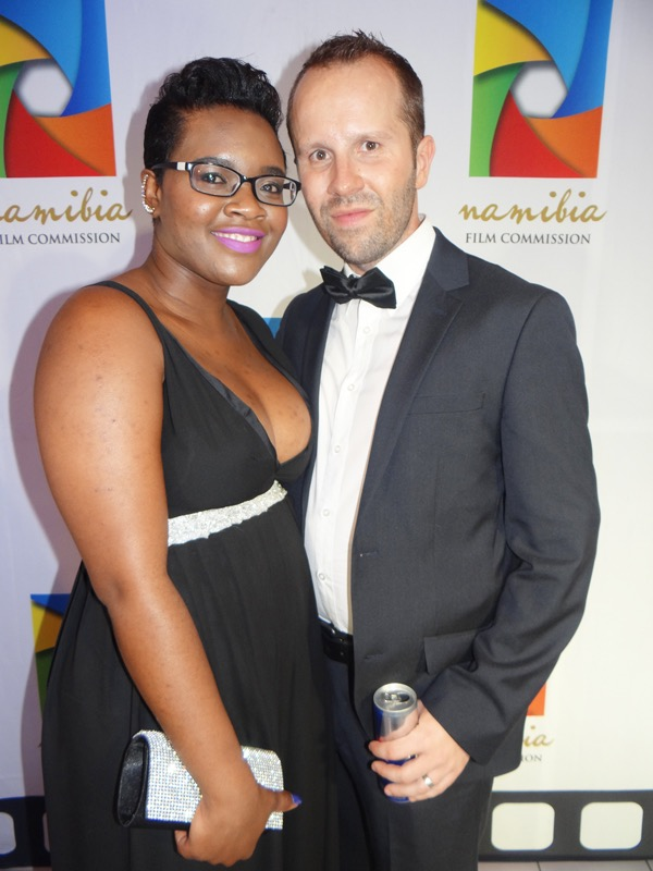 Cherlien and Florian Schott at the world premiere of Katutura last week