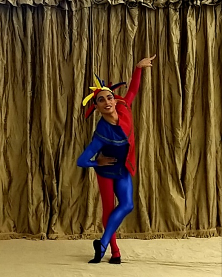 Jordan Roelfze from the CTCB as the Jester in the production.