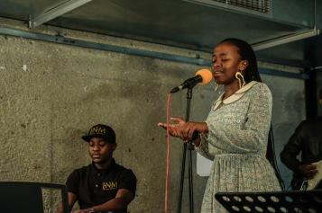 Radostina on stage with Ims Nicolau