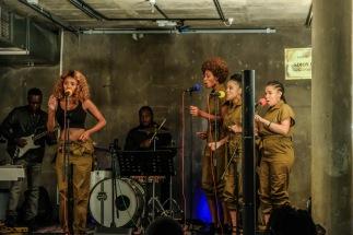 2020 Song Night Ambassador, Zikii and her vocalists. (Images: Martin Amushendje)