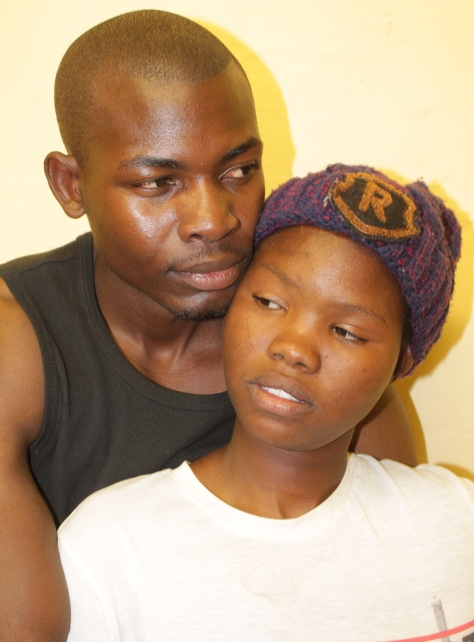 Lead actors Hanty Kashongo and George Antonio