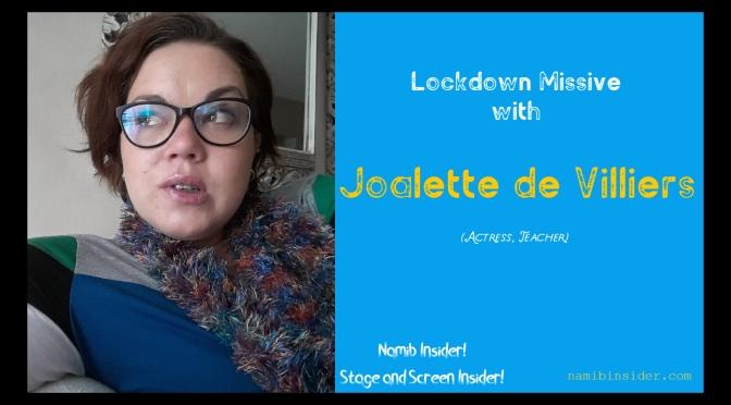 Lockdown Missive: Joalette de Villiers