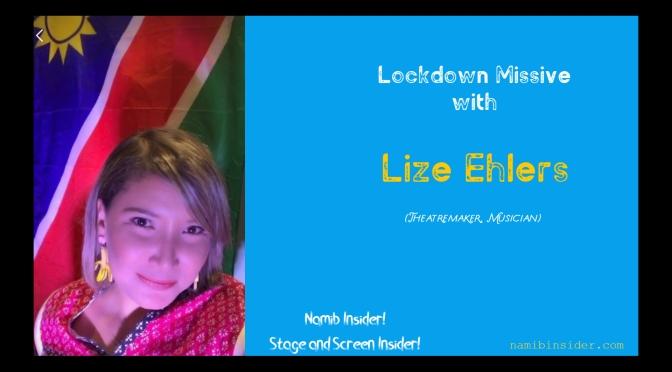Lockdown Missive: Lize Ehlers